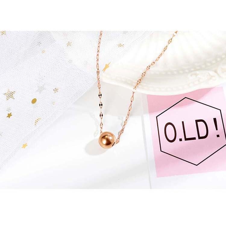 【5折超值價】時尚精美轉運珠造型女款鈦鋼項鍊