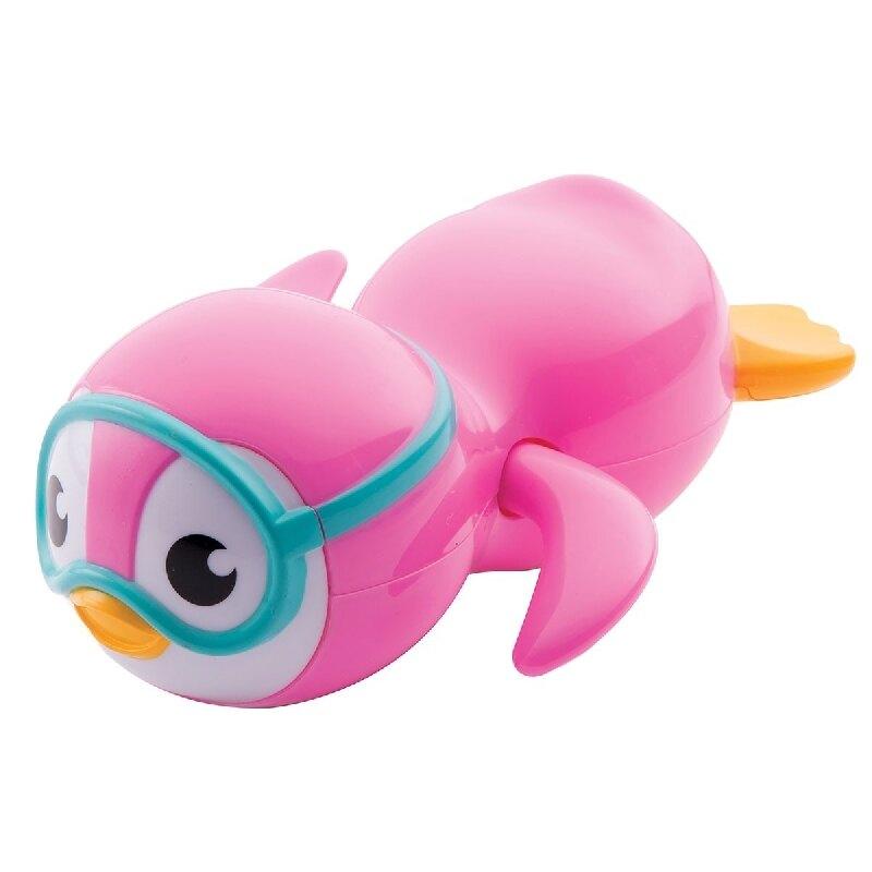 美國 Munchkin 游泳企鵝洗澡玩具-藍/粉【六甲媽咪】
