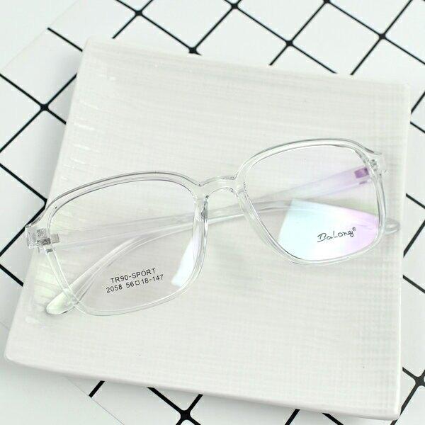 配眼鏡 裸感透明方型膠框【NYA73】