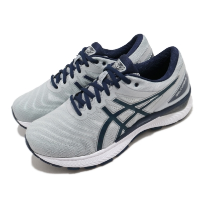Asics 慢跑鞋 Gel Nimbus 22 4E 男鞋 亞瑟士 超寬楦 避震 高緩衝 輕量 亞瑟膠 灰藍 1011A682025