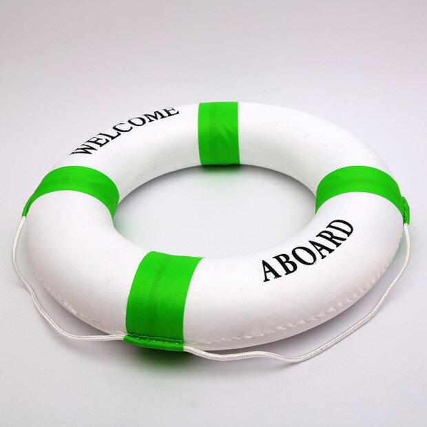 成人實心泡沫加厚救生圈專業兒童泡沫遊泳圈地中海外景掛件裝飾