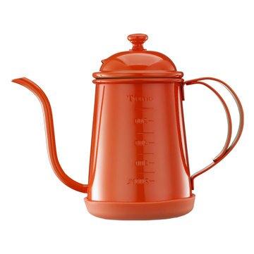 金時代書香咖啡 Tiamo 1405 滴漏式細口壺 0.7L (附刻度標) 香橙橘  HA1655OR