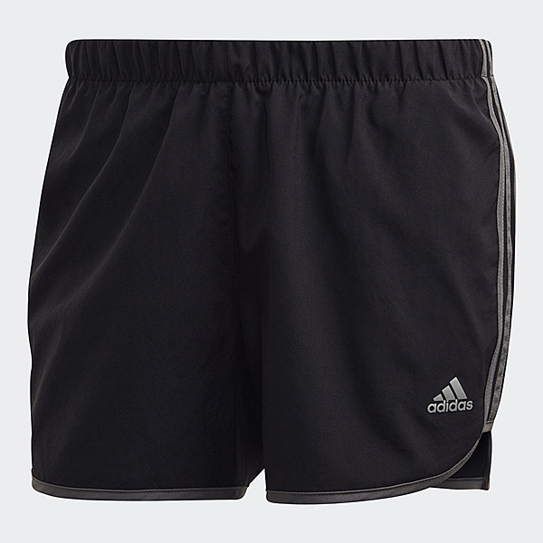 【現貨】ADIDAS MARATHON 20 SHORTS 女裝 短褲 慢跑 訓練 透氣 快乾 反光 黑 灰【運動世界】GC6872