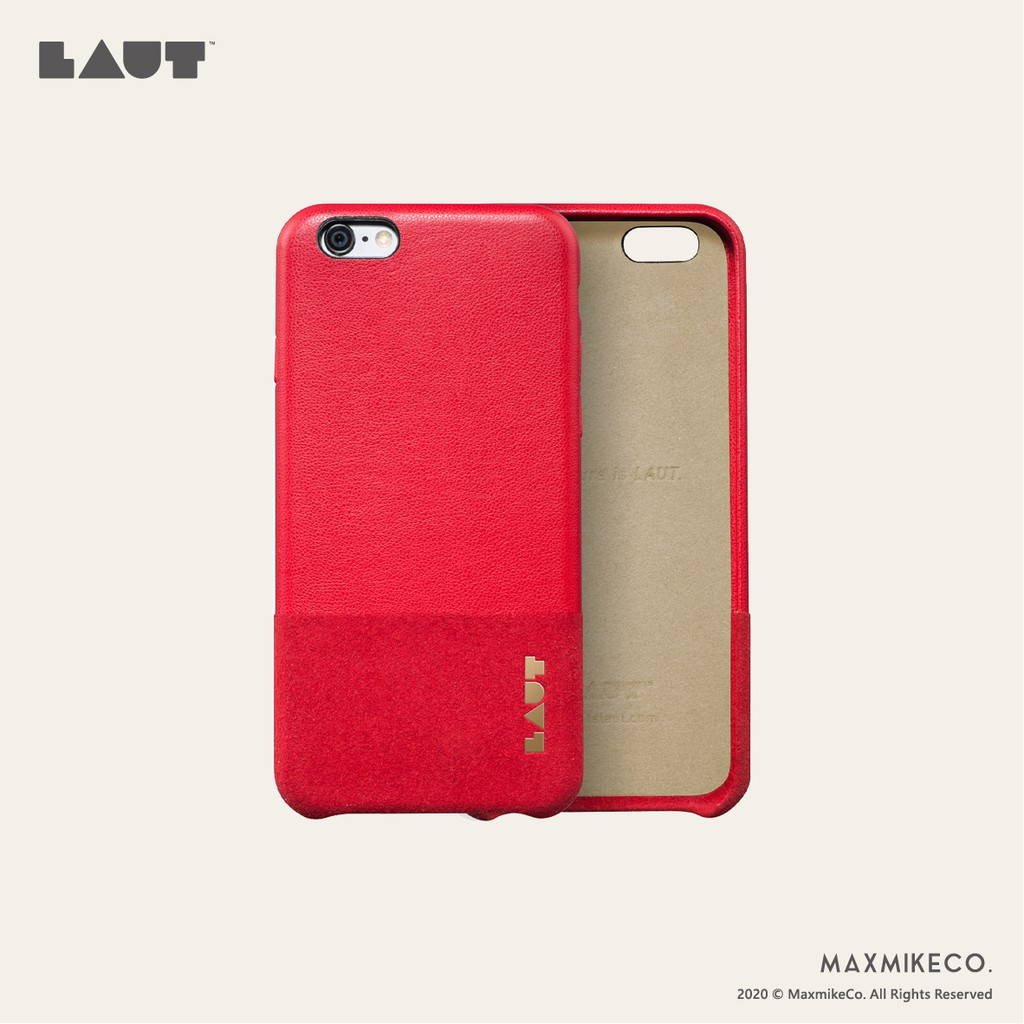 LAUT | iPhone 6/6s/Plus uniform 皮革手機殼 - 紅