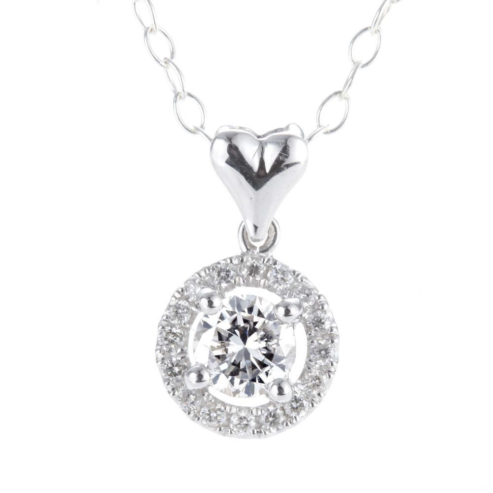 Dolly 天然鑽石 0.30克拉完美車工 14K金鑽石項鍊(027)