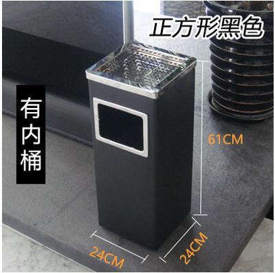 不銹鋼垃圾桶  酒店環衛大堂立式灰戶外果皮箱圓形方形帶內桶『CM38041』