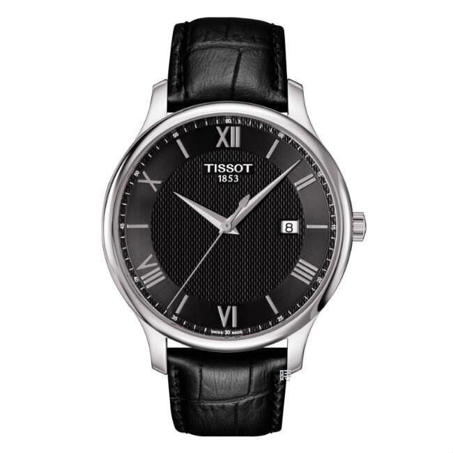 TISSOT 天梭(T0636101605800) 簡約羅馬時尚錶 黑/42mm