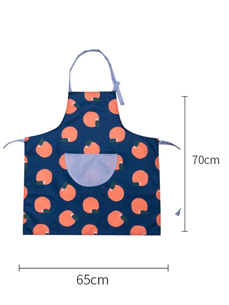 韓版時尚圍裙 廚房可擦手做飯工作服罩衣 棉麻圍腰防油水家用 ♠極有家♠