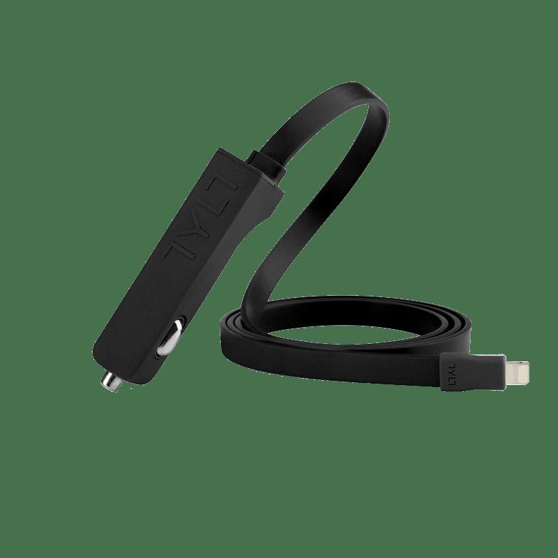 RIBBN CAR charger/Lightning(黑)