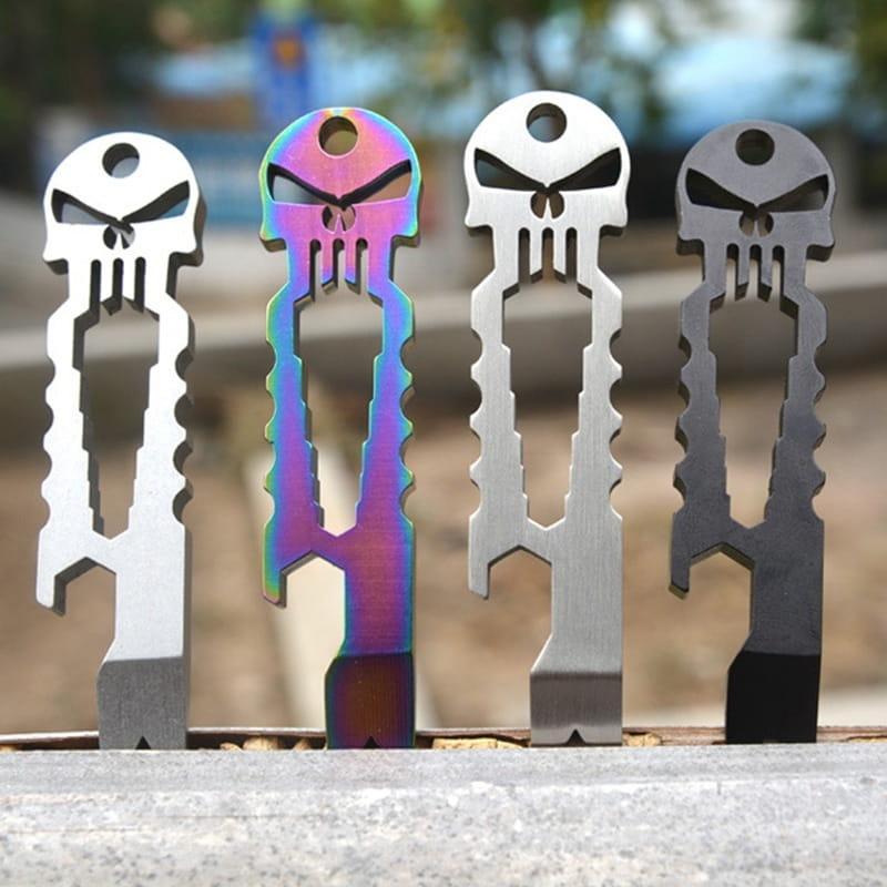 多功能隨身不鏽鋼骷髏掌上工具開瓶器