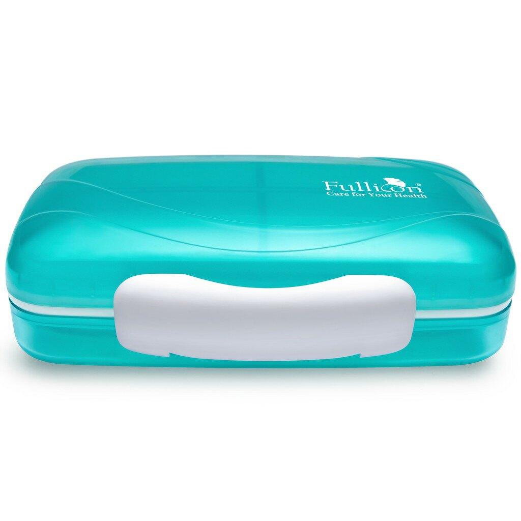 珍啵8格防潮保健盒 藥盒 藍色&綠色 大容量  【護立康】