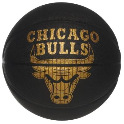 SPALDING 斯伯丁 NBA HARDWOOD 黑金隊徽 合成皮 7號籃球 公牛隊