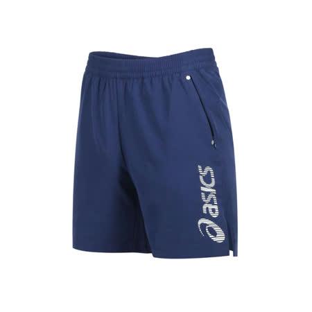 (男) ASICS 7吋平織短褲-慢跑 路跑 運動 反光 亞瑟士 五分褲 丈青銀