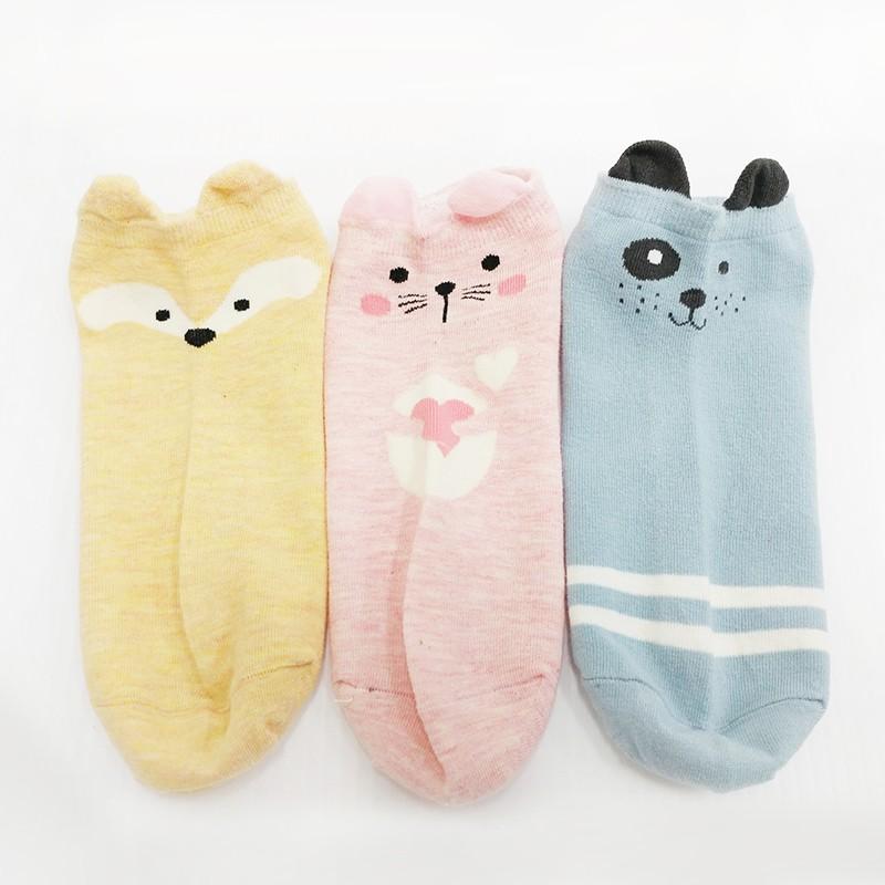 可愛動物少女襪 女襪 襪子 短襪【現貨】