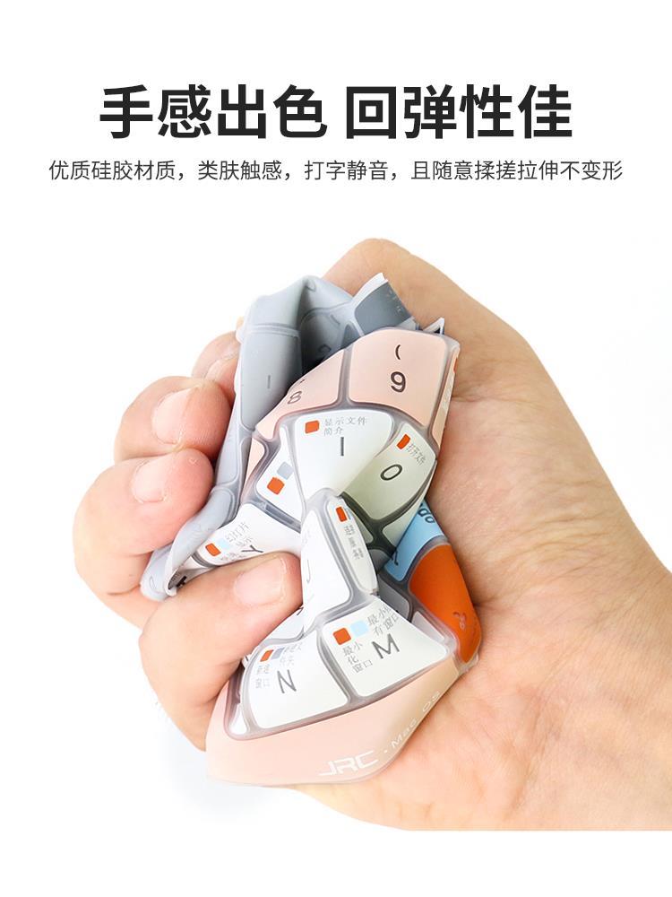 蘋果Macbook筆記本新款pro16電腦15鍵盤膜貼膜air 13保護膜mac12蘋果OS系統辦公快捷按鍵功能標注13.3透光♠極有家♠