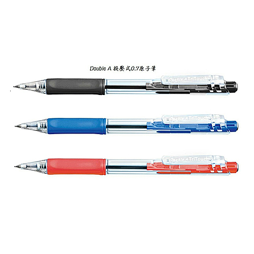 Double A Tri Touch Ball Pen DBP-107 自動原子筆0.7 X 12支入盒裝