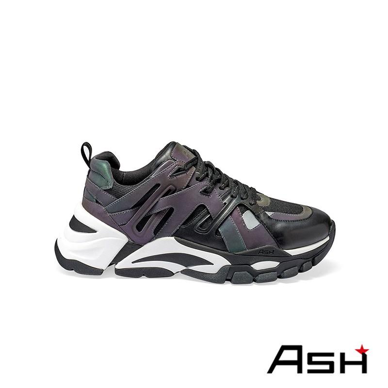 ASH FREE 撞色厚底老爹鞋 黑銀色