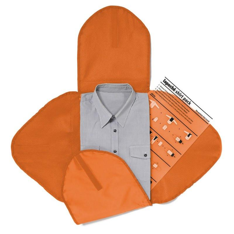 襯衫收納攜行袋-橘色