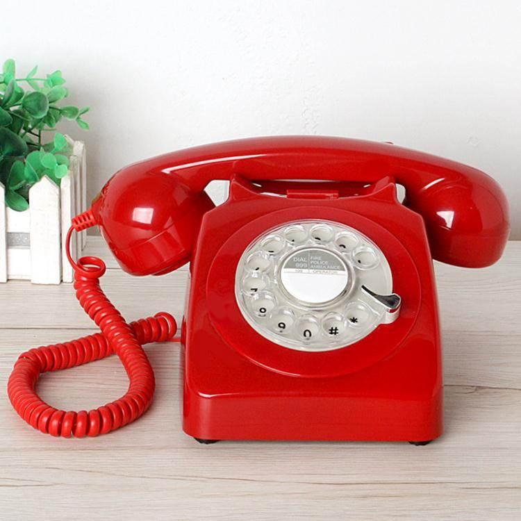 電話機 老式經典轉盤電話機旋轉復古電話仿古家用辦公酒店固定座機金屬鈴  JD