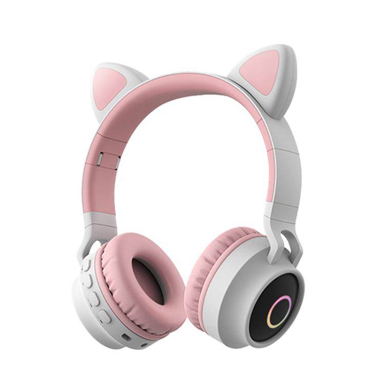 藍牙耳機 手機電腦耳麥抖音爆款藍牙耳機女生款雙耳可愛貓耳朵無線頭戴式適用漫步者