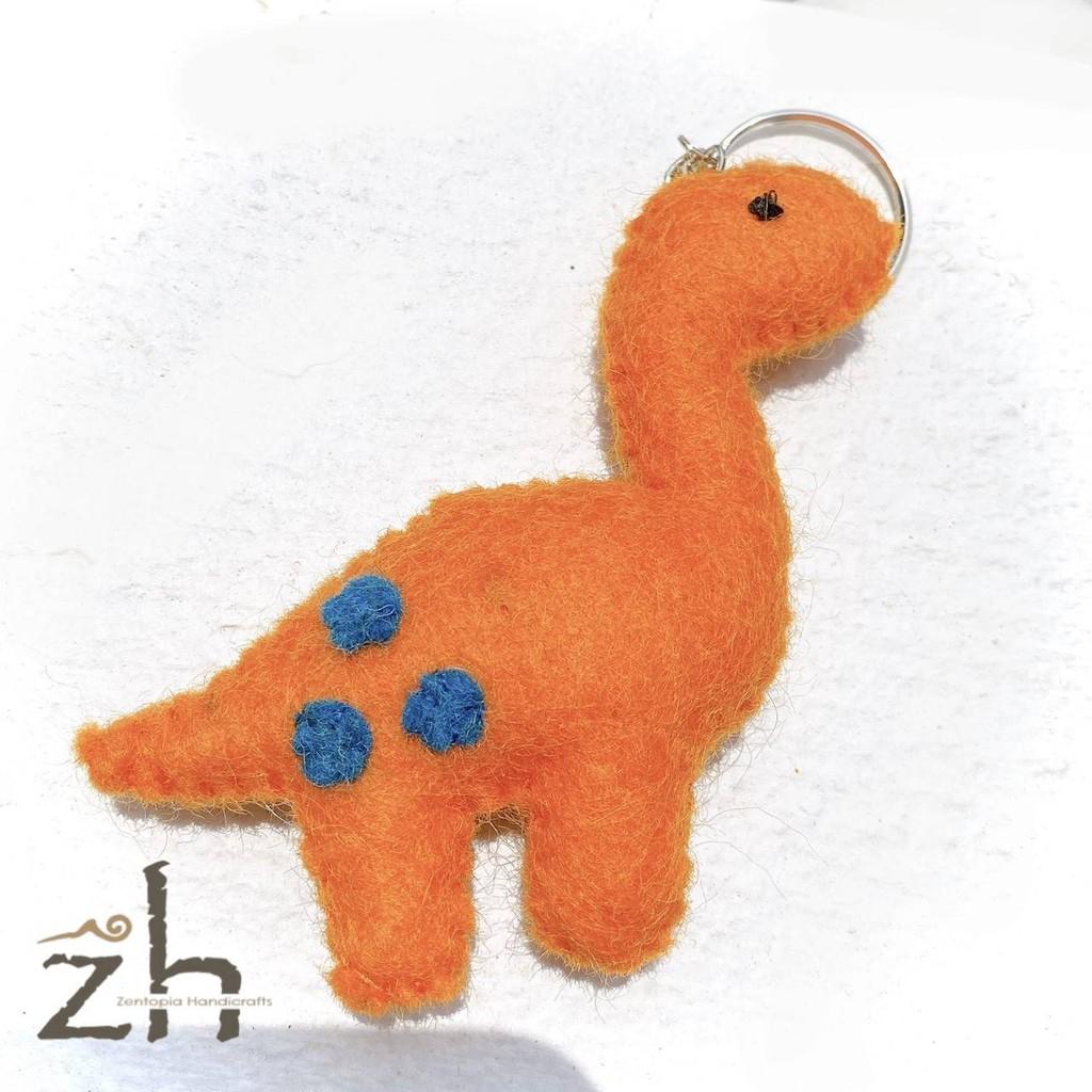 Zh禪手作 x 橘恐龍鑰匙圈 x 尼泊爾羊毛氈