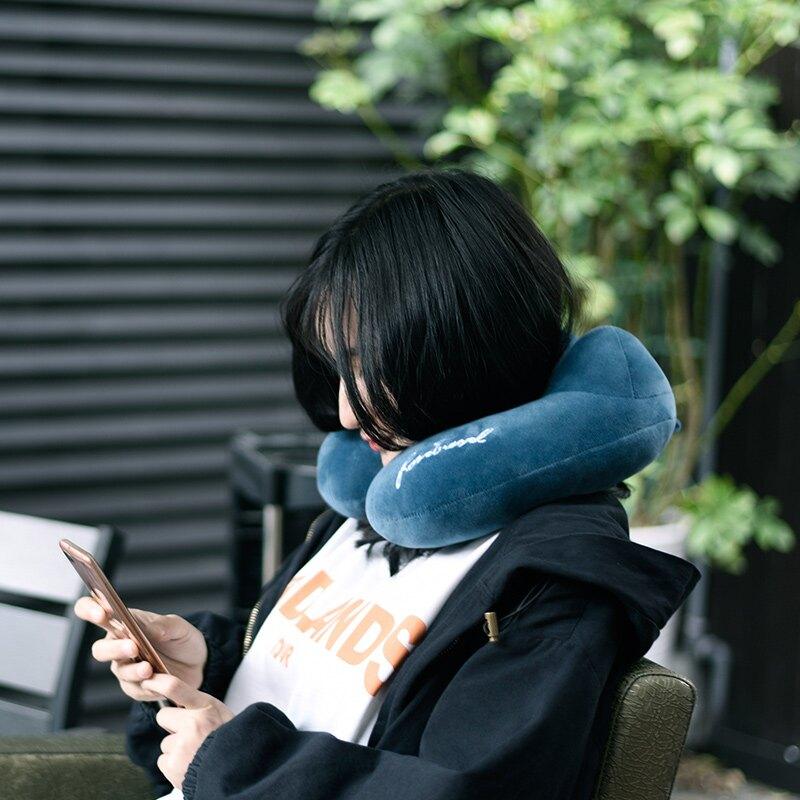 u型枕 旅行護頸枕 頸椎飛機u形枕 脖子 汽車成人午睡記憶枕頭  ♠極有家♠