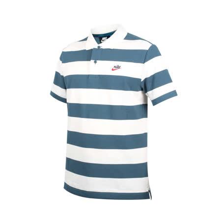 (男) NIKE 短袖POLO衫-短袖上衣 慢跑 路跑 網球 純棉 米白墨綠