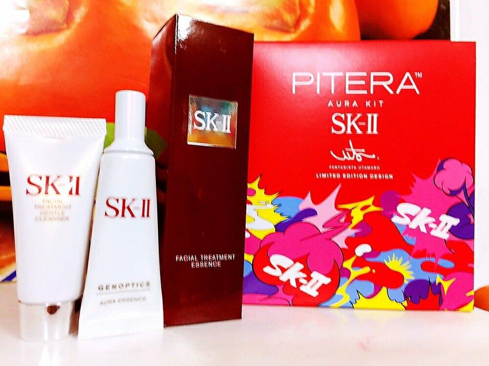 SK-II PITERA 超肌因套裝限量版(青春露75ml+超肌因鑽光淨白精華10ML+ 全效活膚潔面乳20g)