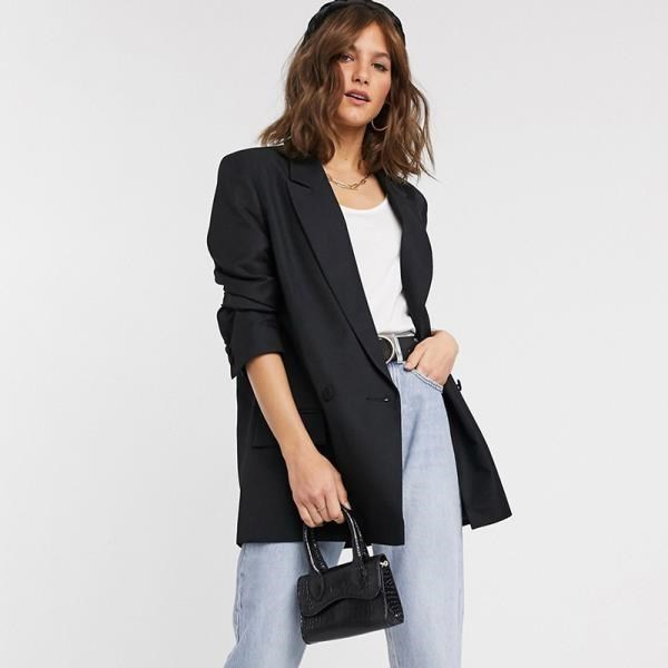 《D'Fina 時尚女裝》 俐落感 微寬鬆休閒西裝外套