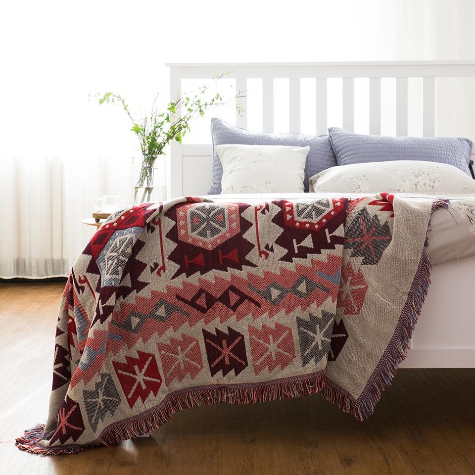 北歐沙發布沙發套罩沙發巾全蓋ins單人組合波西米亞沙發布保護罩♠極有家♠