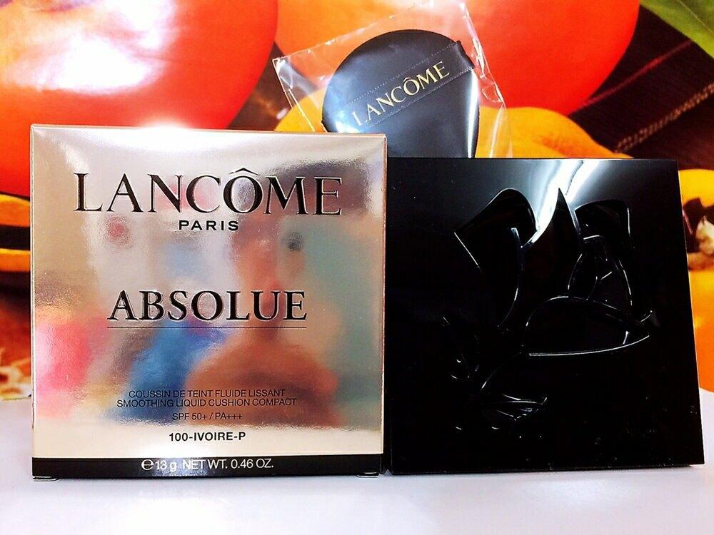 LANCOME 蘭蔻 絕對完美玫瑰氣墊粉餅蕊13g (色號: 110-PO) 補充包 百貨專櫃正貨盒裝 有中文標