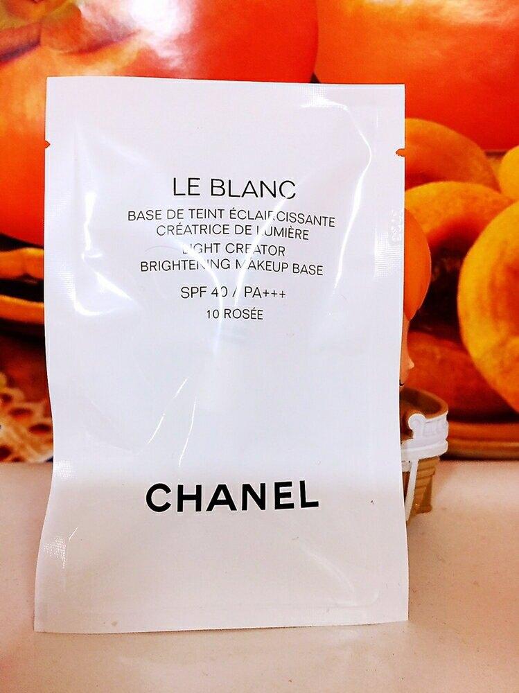 CHANEL 香奈兒 珍珠光感超淨白防護妝前乳SPF 40 2.5ml #10 Rose (玫瑰色) 完美妝底  (旅行用)