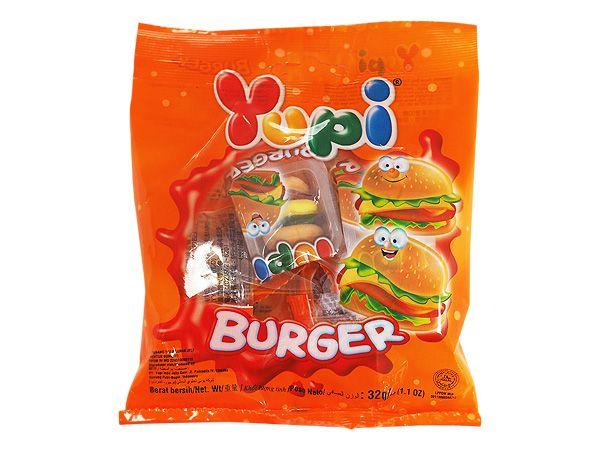 印尼 Yupi 呦皮~漢堡QQ糖(32g)【D941013】