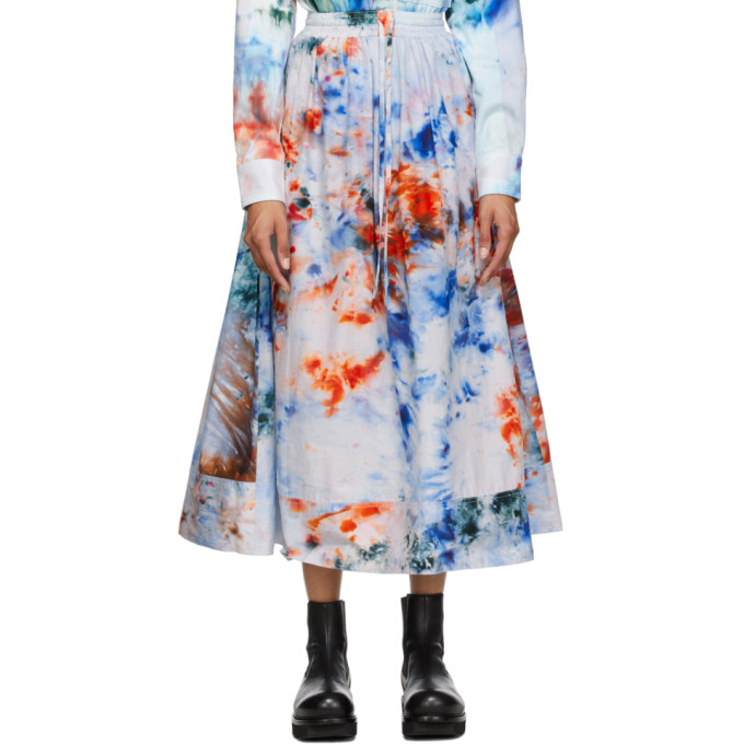 S.R. STUDIO. LA. CA. 蓝色 SOTO 手染半身裙