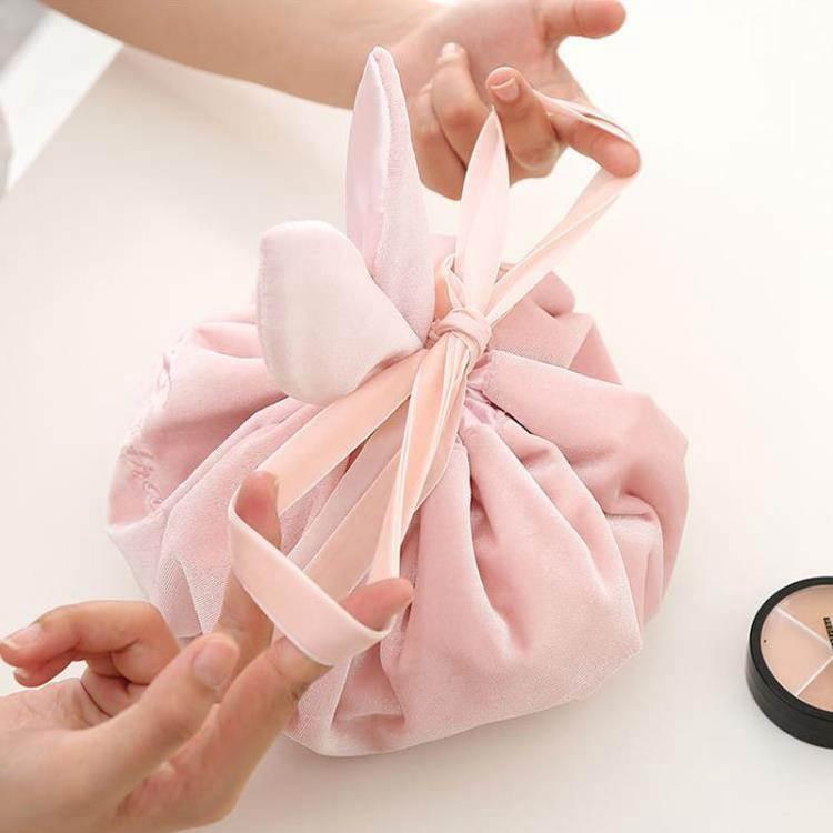 懶人化妝包少女心大容量便攜抽繩化妝品收納袋ins網紅旅行洗漱包