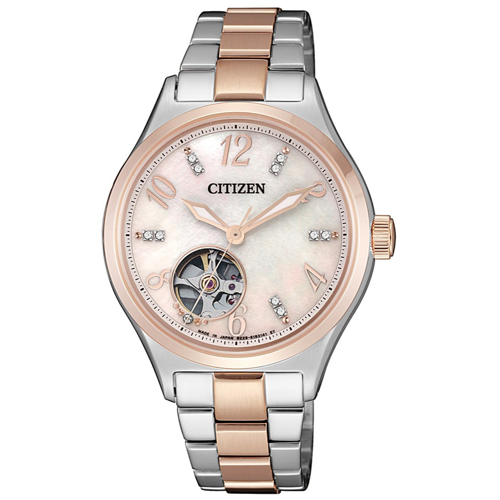 CITIZEN星辰 PC1006-84D 開心鏤空機械腕錶