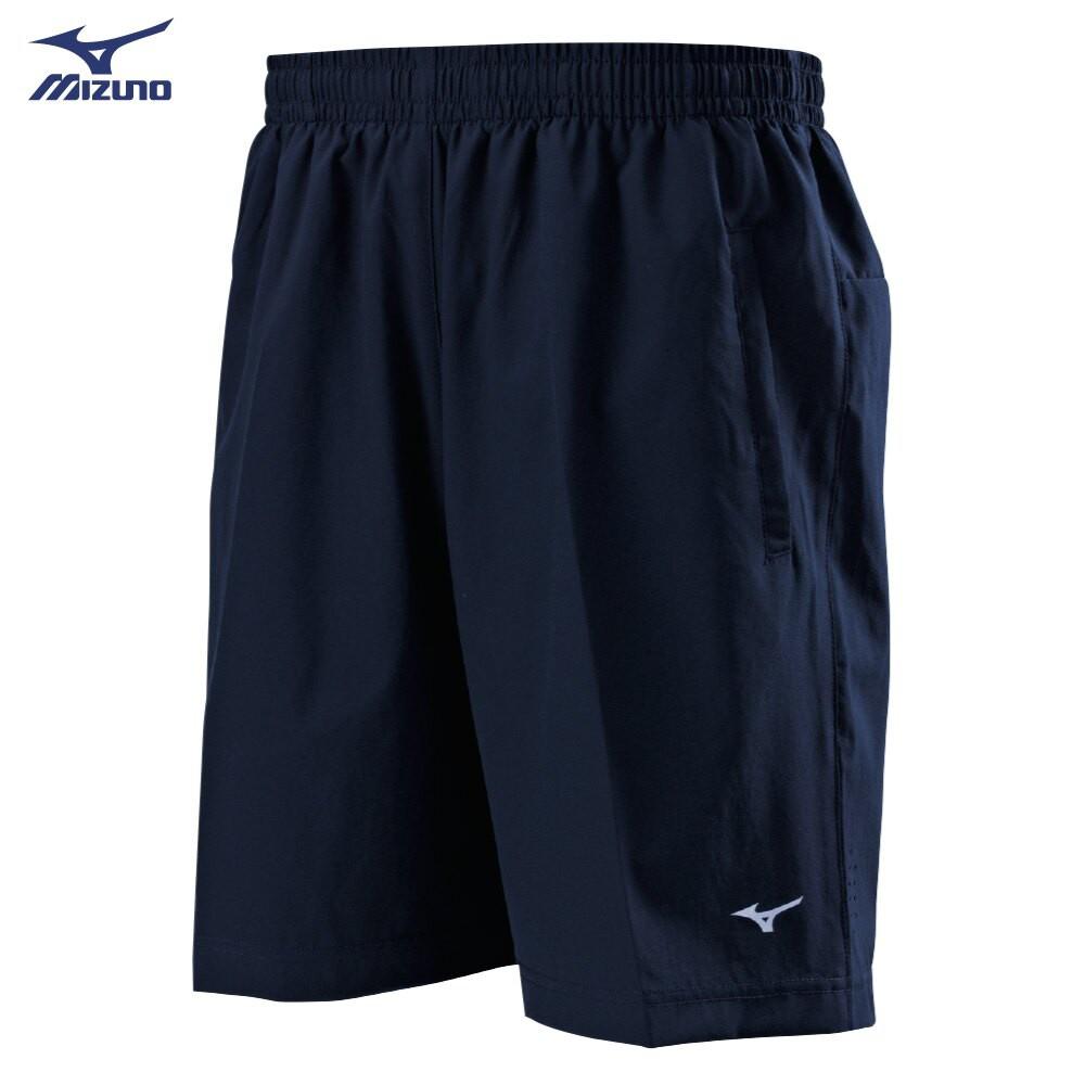 MIZUNO 男裝 短褲 慢跑 訓練 平織 微彈性 後口袋拉鏈 股上19.5CM 藍【運動世界】32TB0A0213