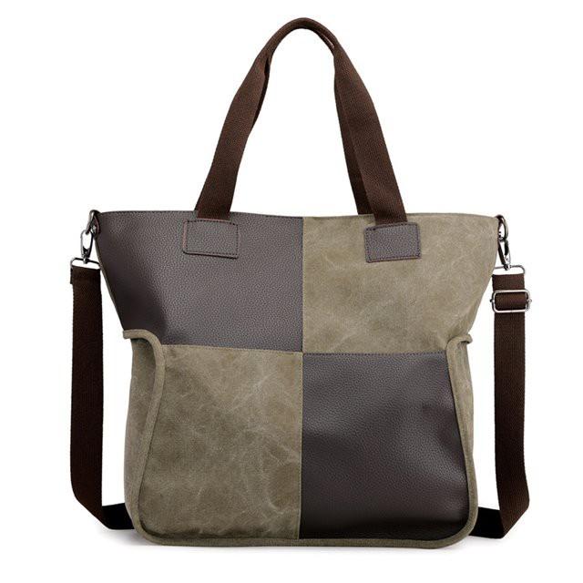 撞色 方塊 大容量 托特包 肩背包 / 帆布 手提包 5色73wa45【米蘭精品】