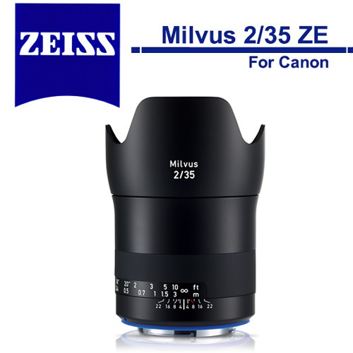 Zeiss 蔡司 Milvus 2/35 ZE 35mm F2 鏡頭 For Canon 石利洛公司貨