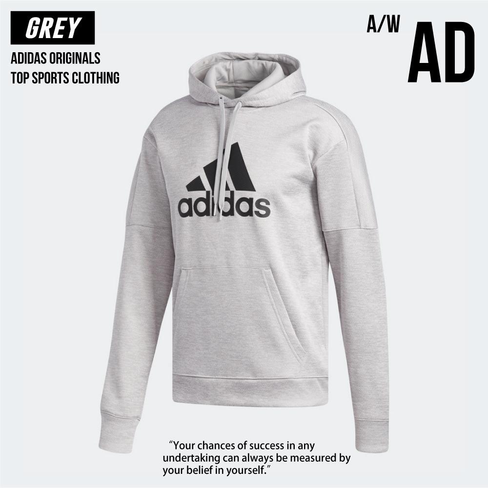 Adidas 愛迪達 運動外套 灰色 灰 帽T DH9017 全新正品 統一發票