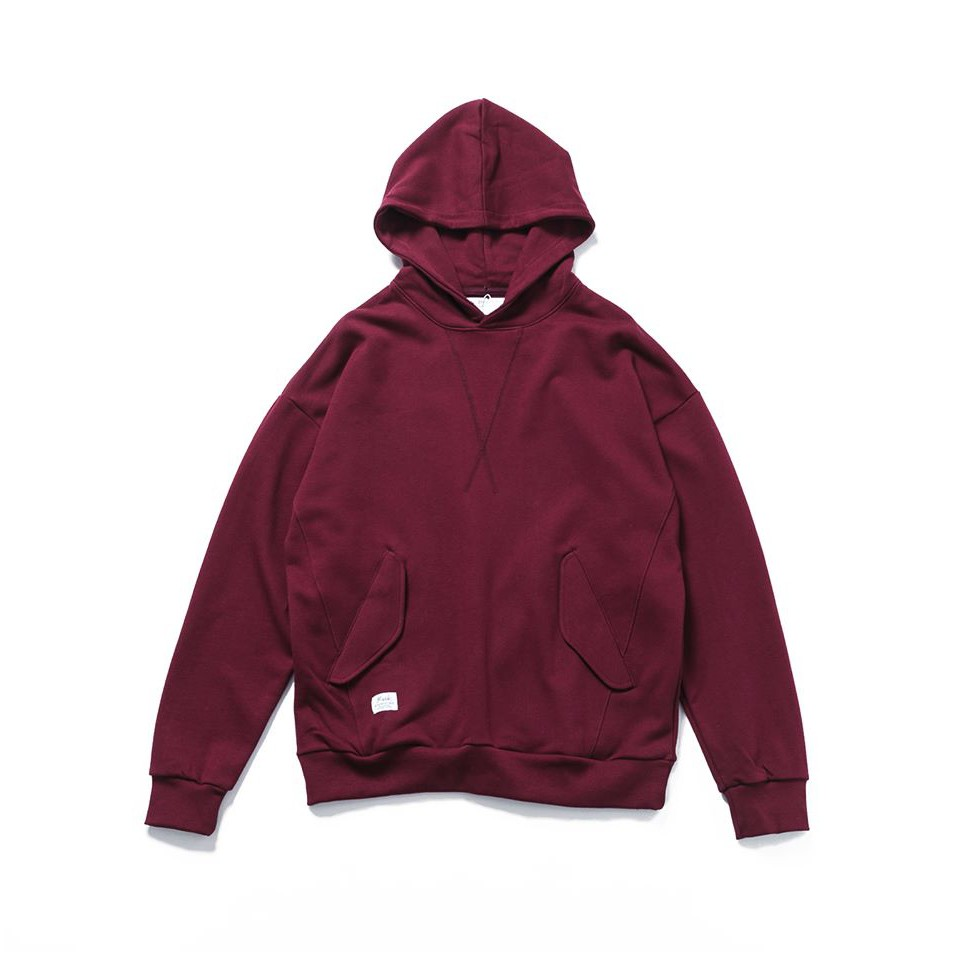 [B-SIDE]M51 HOODIE 寬版 落肩 重磅 純棉 帽T 紫紅色