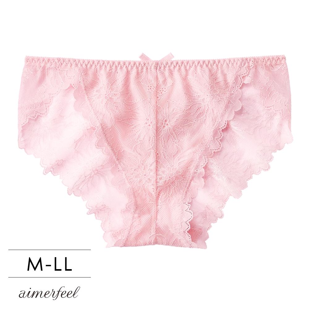 單品內褲緞帶蕾絲三角內褲單品內褲-粉紅色-178821-PI