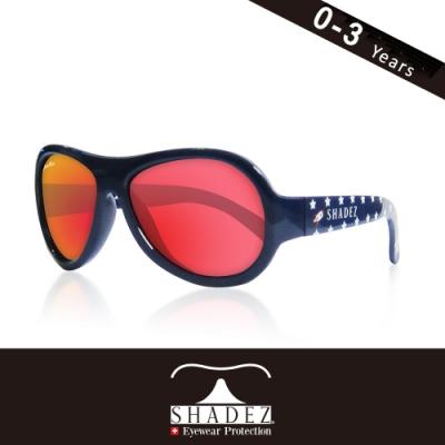 瑞士 SHADEZ 兒童太陽眼鏡 【圖騰設計款-深藍火箭星星 SHZ-86】0 - 3歲