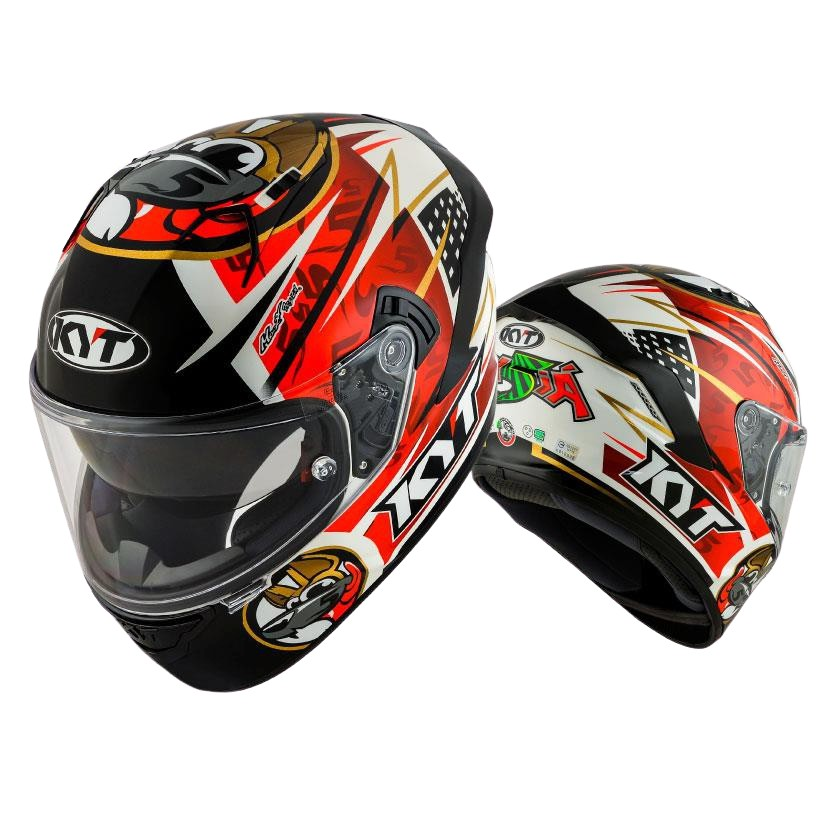 KYT 安全帽 NF-R NFR 選手彩繪 5 紅 全罩式 內藏墨鏡 雙D扣《比帽王》