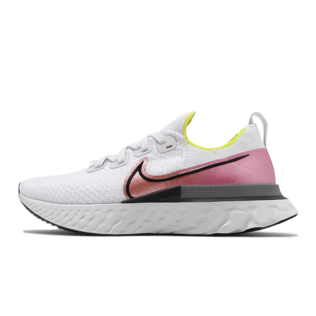 Nike 慢跑鞋 React Infinity Run FK 白 粉紅 男鞋 運動鞋 【ACS】 CD4371-004