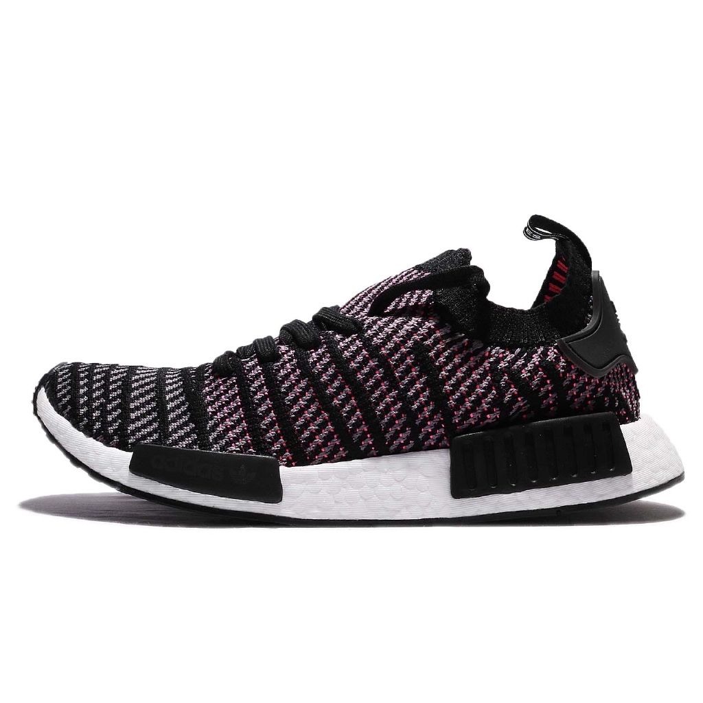 adidas 休閒鞋 NMD_R1 STLT PK 黑 粉紅 針織 男鞋 運動鞋 BOOST 【ACS】 CQ2386