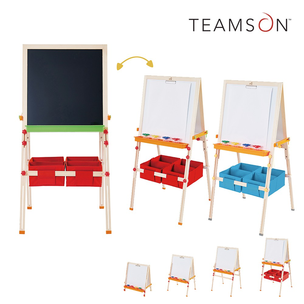 Teamson小藝術家梵谷兒童雙面收納畫架(2色)