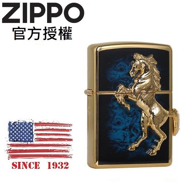 ZIPPO GD Blue winning winny 經典駿馬(深海寶藍金)防風打火機