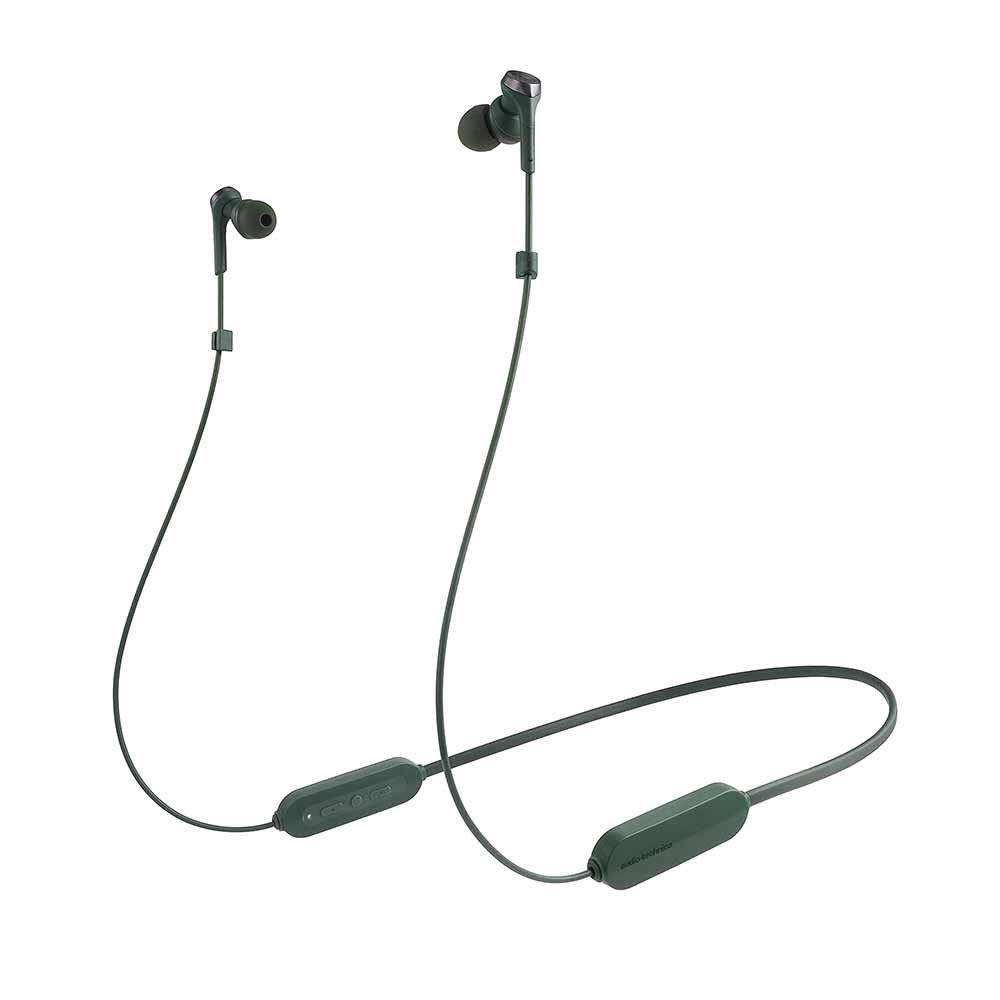 【公司貨】鐵三角 CKS330XBT ATH-CKS330XBT 頸掛耳道式耳機 藍芽耳機 重低音 綠色