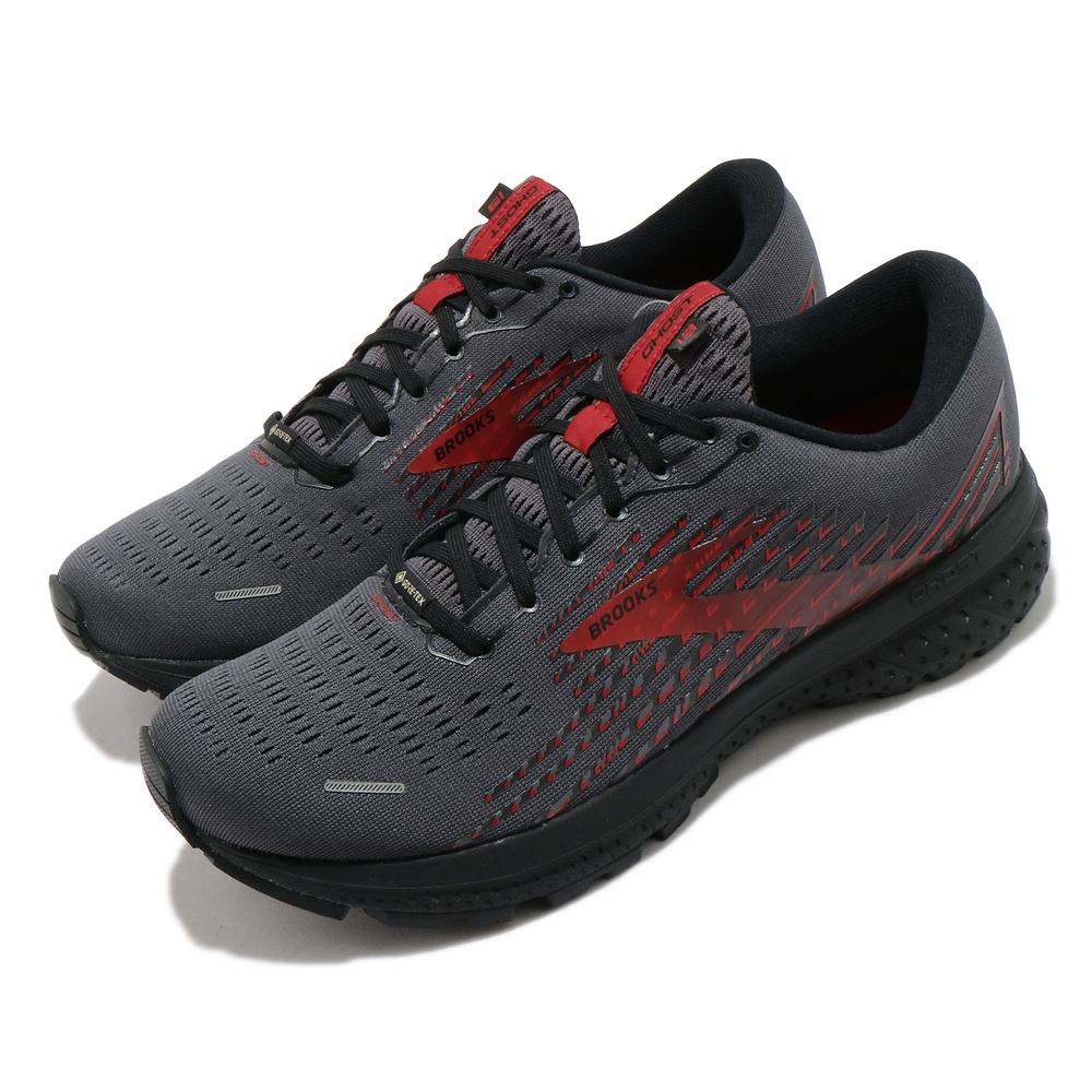 BROOKS 慢跑鞋 Ghost 13 GTX 運動 男鞋 路跑 緩震 DNA科技 健身 球鞋 黑 紅 [1103421D075]